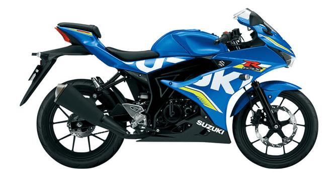 Mẫu Suzuki GSX-R150 màu xanh đen