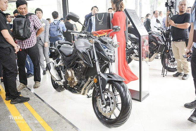 Thiết kế ngoại thất Honda CB500F