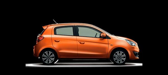 Thiết kế Mitsubishi Mirage màu cam