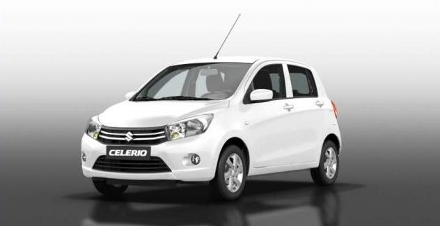 Ngoại thất Suzuki Celerio màu trắng