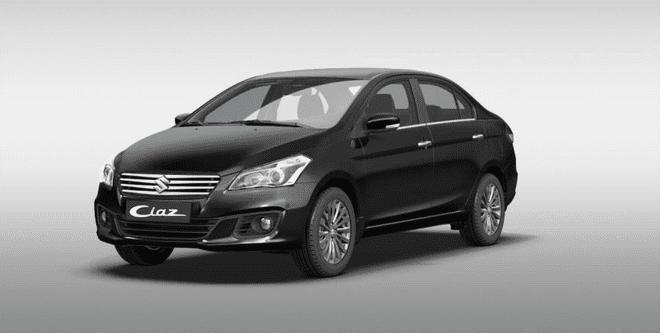 Ngoại thất Suzuki Ciaz màu đen