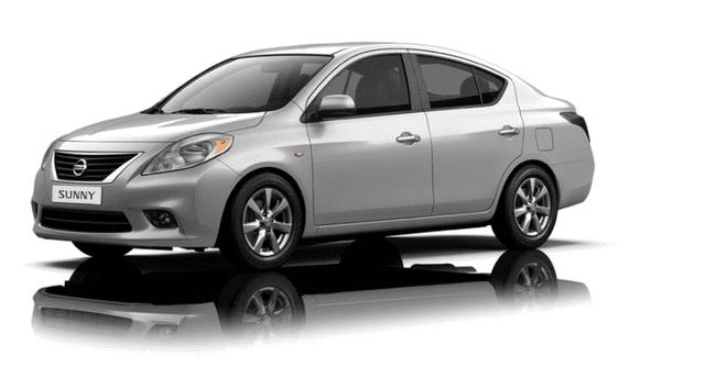 Ngoại thất Nissan Sunny màu bạc