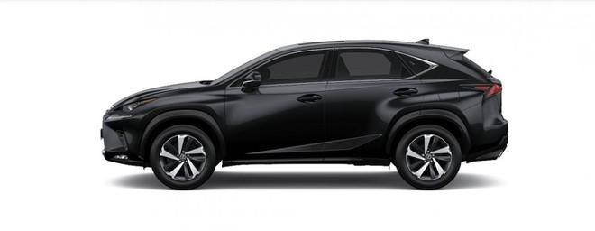 Ngoại thất Lexus NX màu xám đen