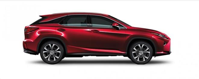 Ngoại thất Lexus RX màu đỏ