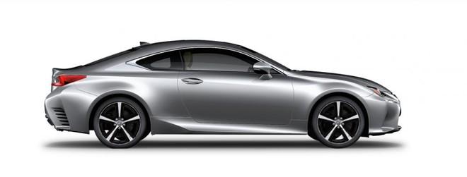 Ngoại thất của Lexus RC màu bạc