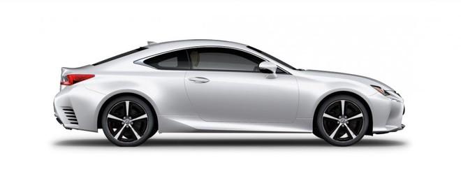 Ngoại thất của Lexus RC màu trắng