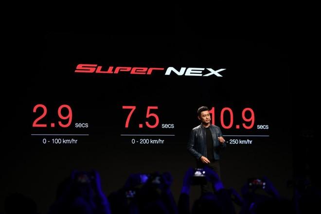 Trong buổi ra mắt, Kymco đã công bố khả năng tăng tốc vượt trội của Super NEX