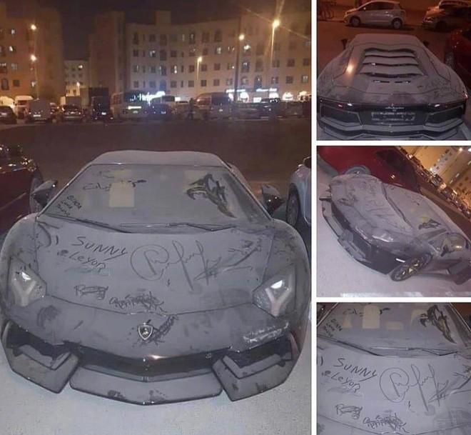 Hình ảnh chiếc Lamborghini Aventador bị bỏ rơi được đăng lên mạng