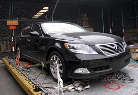 Đông chuyên dùng xe ôtô Lexus nhập khẩu từ nước ngoài để lừa đảo