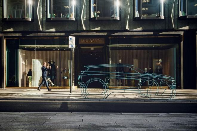 Mô hình làm bằng dây cho thấy trước đường nét bên ngoài của Range Rover Evoque 2020