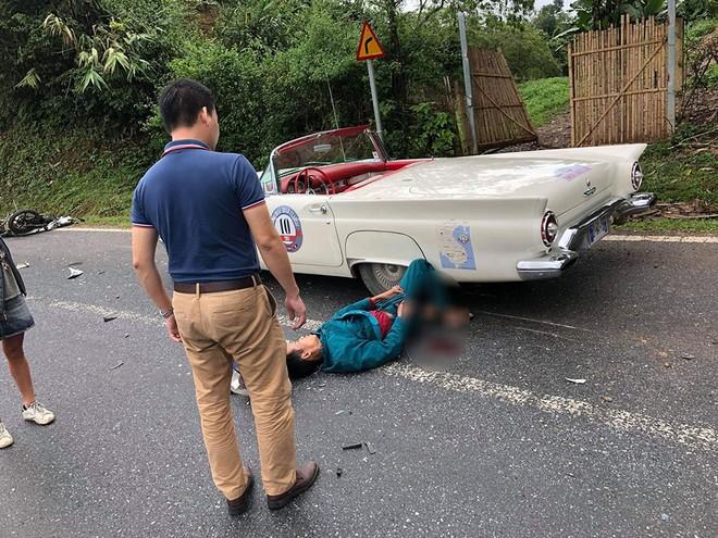 Người đàn ông điều khiển xe máy bị thương khá nặng sau vụ tai nạn
