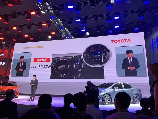 Màn hình thông tin giải trí 12,1 inch cỡ lớn của Toyota Levin 2019