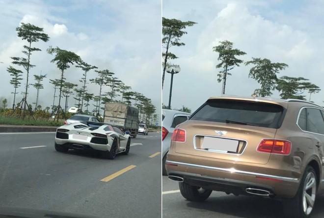 Ngoài siêu xe, đoàn xe này còn có chiếc SUV siêu sang Bentley Bentayga