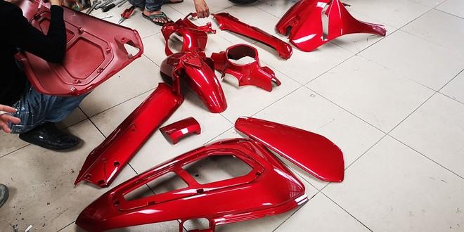 Dàn áo nhựa của VinFast Klara