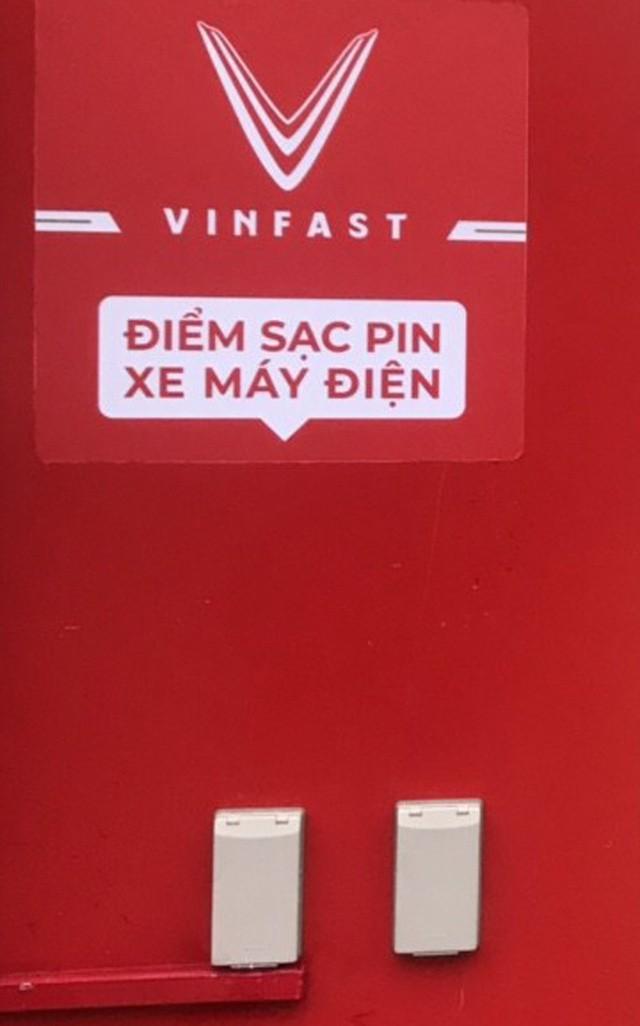 Ổ cắm tại trạm sạc điện của Vinfast