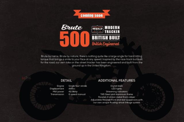 Poster quảng cáo của Herald về chiếc Brute 500