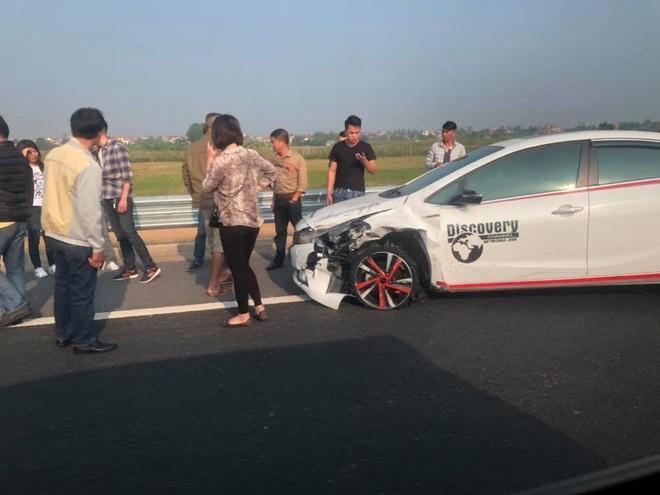Chiếc Kia K3 tại hiện trường vụ tai nạn