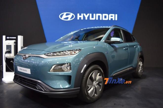 Hyundai Kona Electric được bổ sung 2 hốc gió trên cản trước