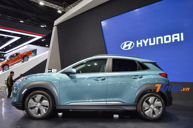 Hyundai Kona Electric được trang bị vành 17 inch khác biệt
