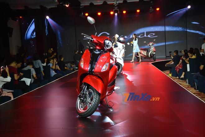 Yamaha Grande màu đỏ thuộc bản Tiêu chuẩn