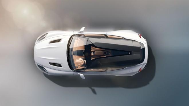 Phần mui kính trong suốt và sợi carbon trên Aston Martin Vanquish Zagato Shooting Brake