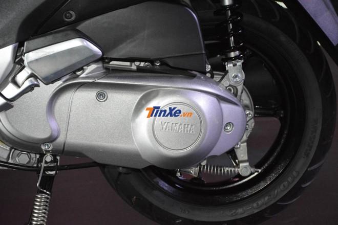 Động cơ Blue Core 125 cc trên Yamaha Grande Hybrid bản kỷ niệm 20 năm vẫn tích hợp thêm hệ thống trợ lực điện Hybrid
