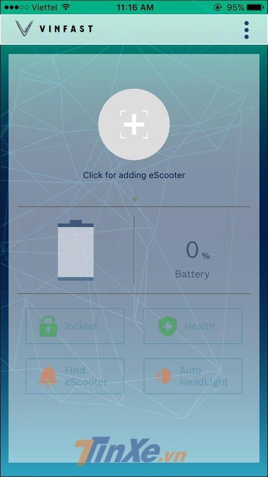 Trên IOS, phần mềm Vinfast eScooter hoạt động khá mượt