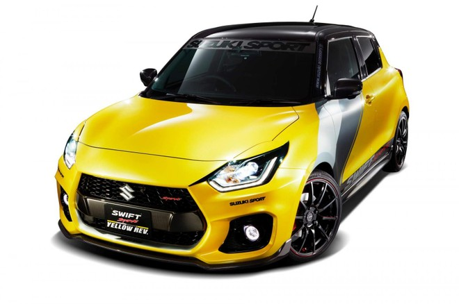 Suzuki Swift Sport Yellow Rev