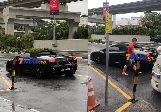 Tài xế xe khách bất cẩn tông vào phía sau siêu xe Lamborghini Gallardo mui trần