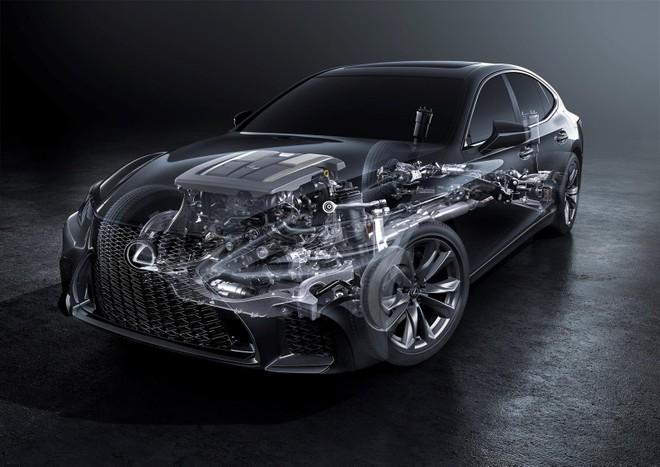 Động cơ turbo V6 3.5L của Lexus LS 500 2019