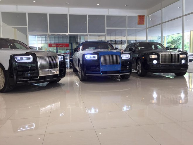 Rolls-Royce Phantom thế hệ thứ VII so dàng cùng cặp đôi Rolls-Royce Phantom thế hệ thứ VIII