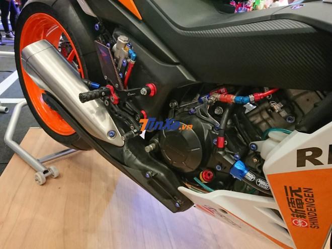 Honda Winner 150 Repsol sử dụng khối động cơ xy-lanh đơn, DOHC, dung tích 149,7 cc