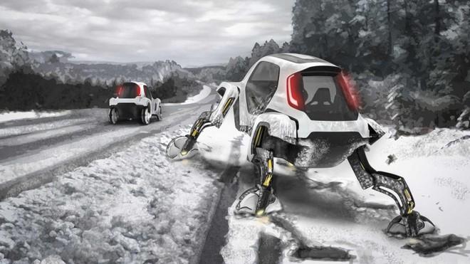 Bước từ chỗ bề mặt xấu lên mặt đường là chuyện đơn giản đối với Hyundai Elevate