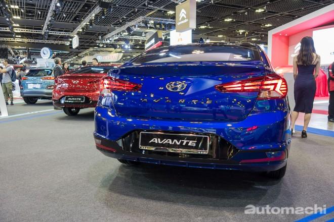Hyundai Elantra 2019 tại Singapore dùng động cơ xăng 1,6 lít