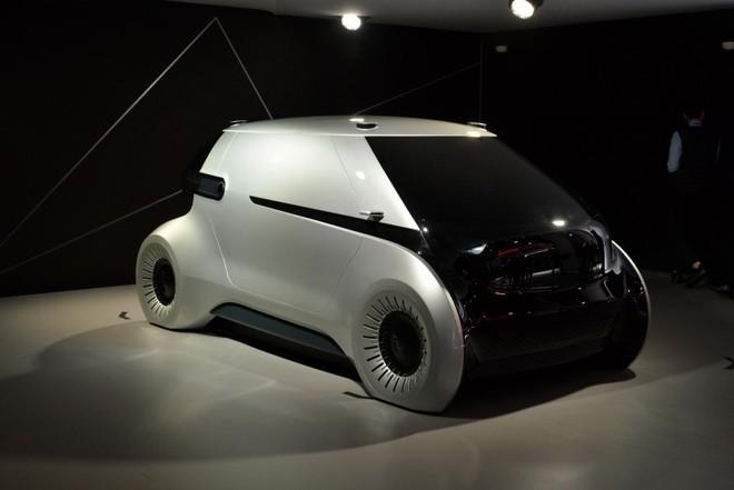 Mẫu xe concept của Hyundai MOBIS có dáng vẻ gọn gàng, trơn mượt đậm tính tương lai
