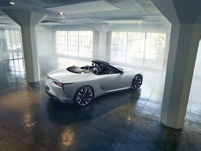 Lexus LC Convertible có thể dùng động cơ giống phiên bản coupe