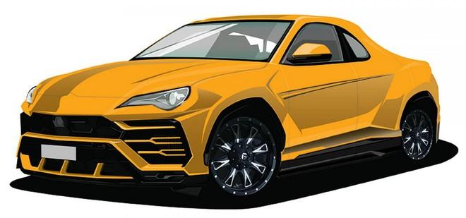 Hình ảnh phác họa của Lamborghini Urus bán tải