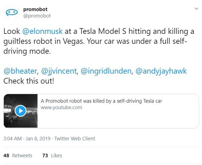Promobot đã lập tức lên tiếng trên Twitter sau vụ tai nạn
