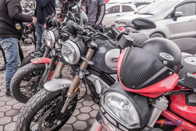 Buổi gặp mặt còn có sự xuất hiện của quái vậtDucati Scrambler 1100 cùng dàn xe Ducati hoành tráng