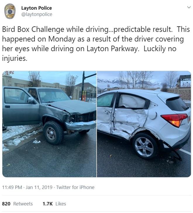 Dòng Tweet của Sở cảnh sát Layton
