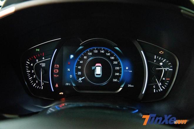 Đồng hồ hiển thị thông tin cho người lái chia làm 3 khu vực với màn LCD hiển thị tốc độ ở chính giữa, 2 công-tơ-mét dạng kim analogue đặt 2 bên báo tua máy và nhiệt độ nước làm mát cùng mức tiêu thụ nhiên liệu