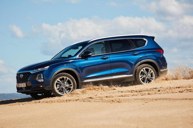 Hyundai Santa Fe 2019 màu xanh dương