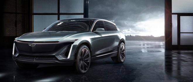 Hình ảnh nhìn trước về mẫu crossover điện chưa có tên của Cadillac