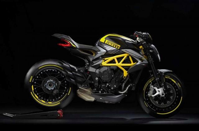 MV Agusta Dragster 800 RR 2019 Pirelli màu vàng đenvới vành căm.