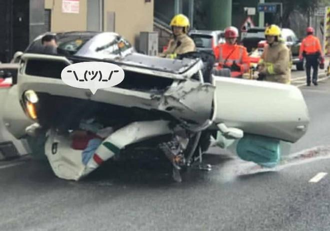 Thiệt hại của siêu xe Ferrari 458 Speciale ở Hồng Kông khá nặng