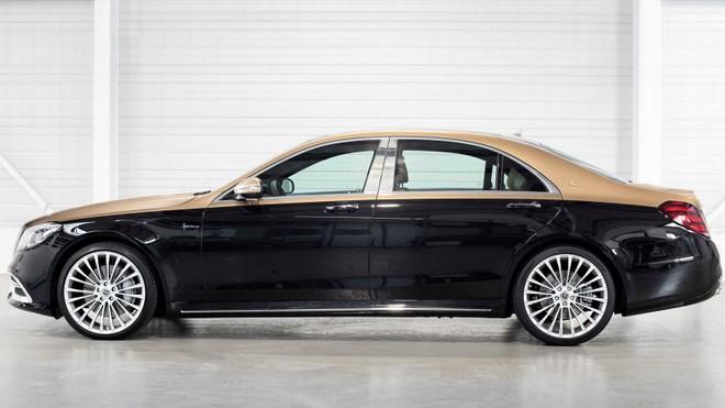 Bộ vành hợp kim đa chấu màu bạc của chiếc Mercedes-Benz S-Class