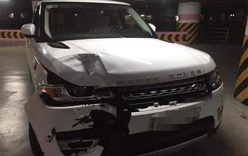 Chiếc Range Rover gây tai nạn