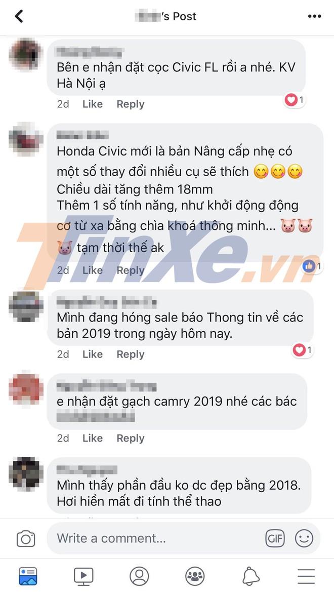 Các đại lý bắt đầu nhận cọc cho Honda Civic 2019