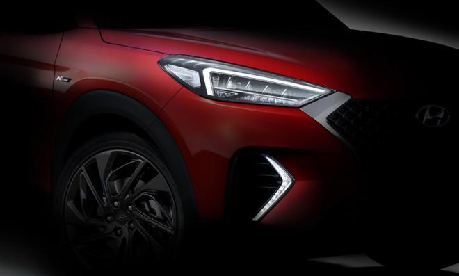 Hình ảnh hé lộ thiết kế đầu xe của Hyundai Tucson N Line 2019