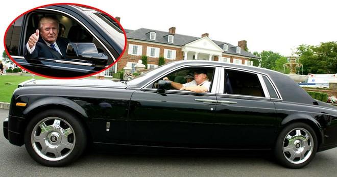 Trước khi làm Tổng thống Mỹ, ông Donald Trump là một doanh nhân giàu có và nổi tiếng vì thế không thể thiếu dòng xe siêu sang như Rolls-Royce Phantom